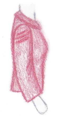pasvorm blouse colbert dwarsplooien in mouwkop