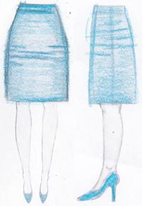 pasvorm rok lijnen heup