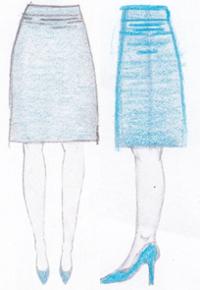 pasvorm rok lijnen taille