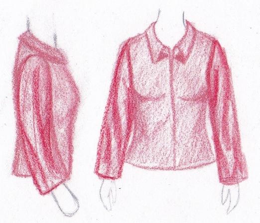 pasvorm blouse colbert zakkerige mouw