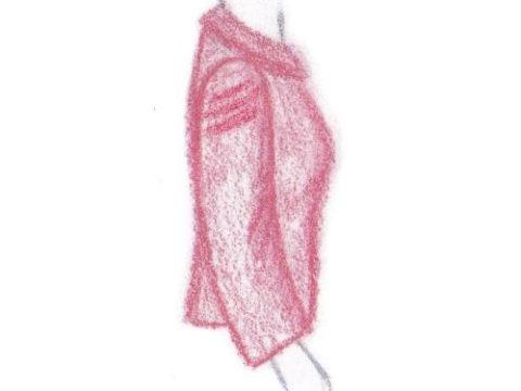 pasvorm blouse colbert - dwarsplooien in mouwkop
