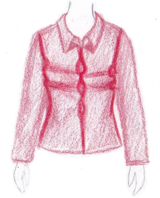 pasvorm blouse colbert - gapende voorkant
