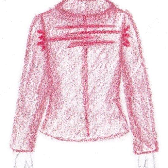 pasvorm blouse colbert - lijnen op rug