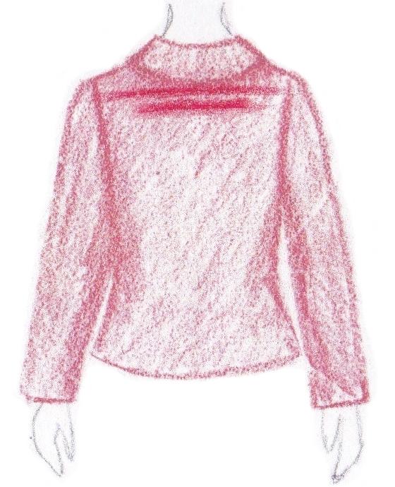 pasvorm blouse colbert - plooi onder hals