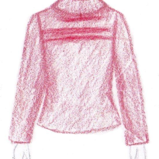 pasvorm blouse colbert - plooi op rug