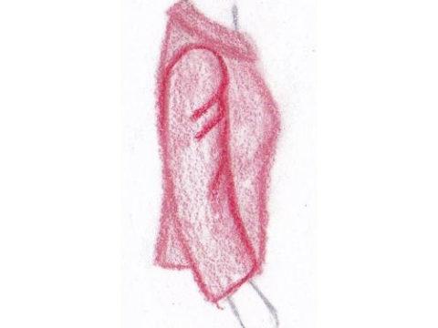 pasvorm blouse colbert - trekkende mouwkop