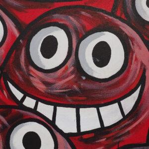 streetart smiling face